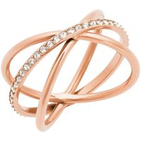 Damen Michael Kors PVD Rosa plating Größe P Brilliance Ring